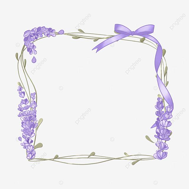 lavender border purple bow ribbon