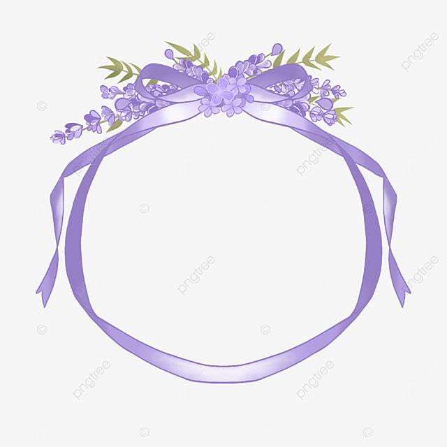 lavender border purple ribbon lace
