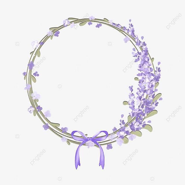 lavender border purple round bow