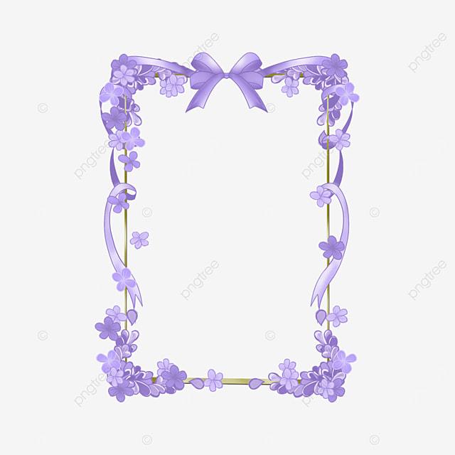 lavender border purple square bow