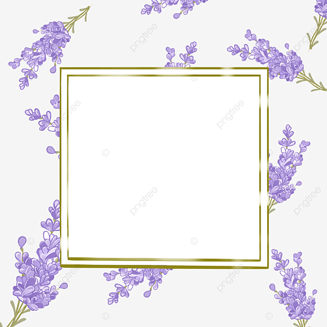 lavender border square metal border