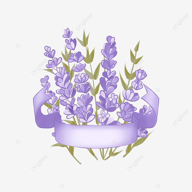 lavender bouquet border purple