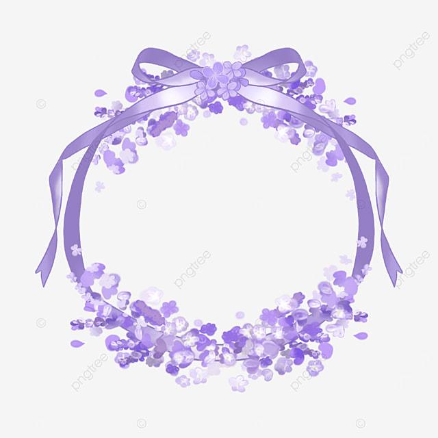 lavender ribbon border purple