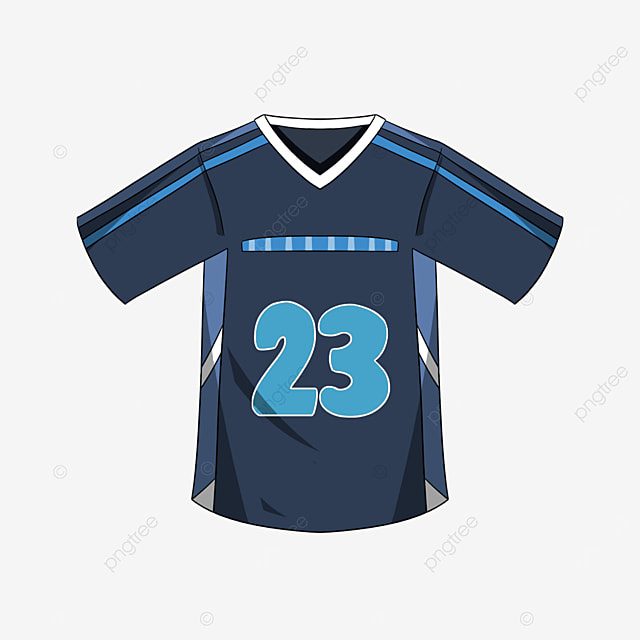 mens football blue jersey clip art