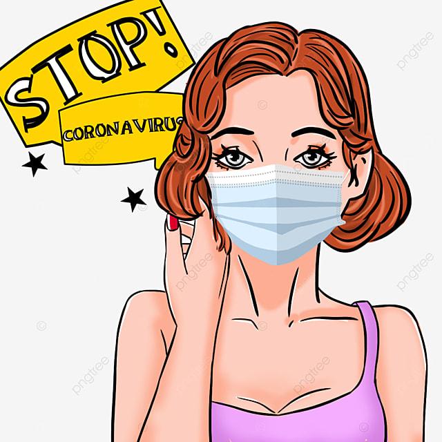 new coronavirus beauty manfeng women wearing masks