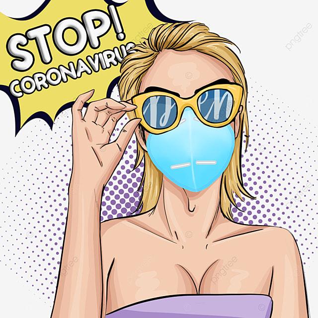 new coronavirus beauty women wearing masks