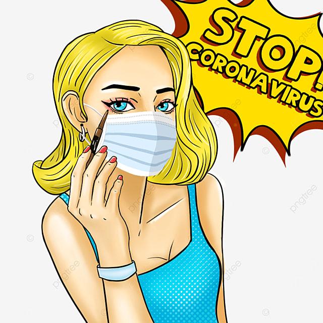 new coronavirus pop woman wearing mask