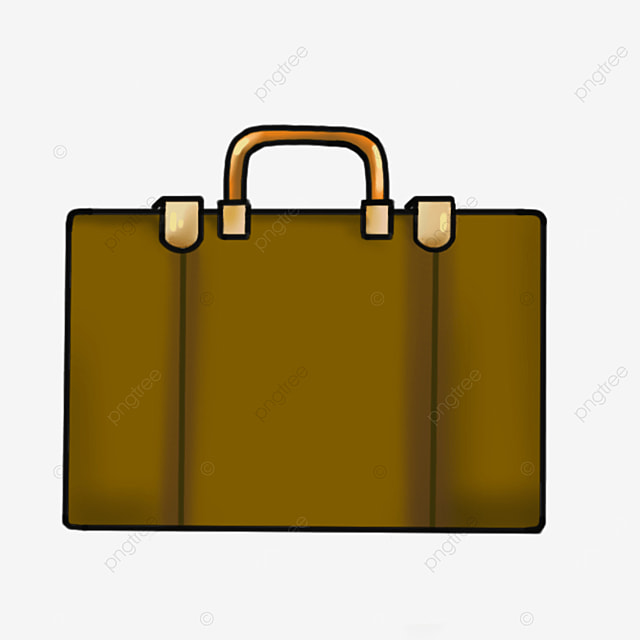 office portable brown briefcase clipart