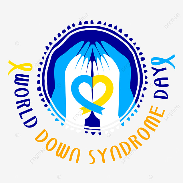 palms hold each other on world down syndrome day
