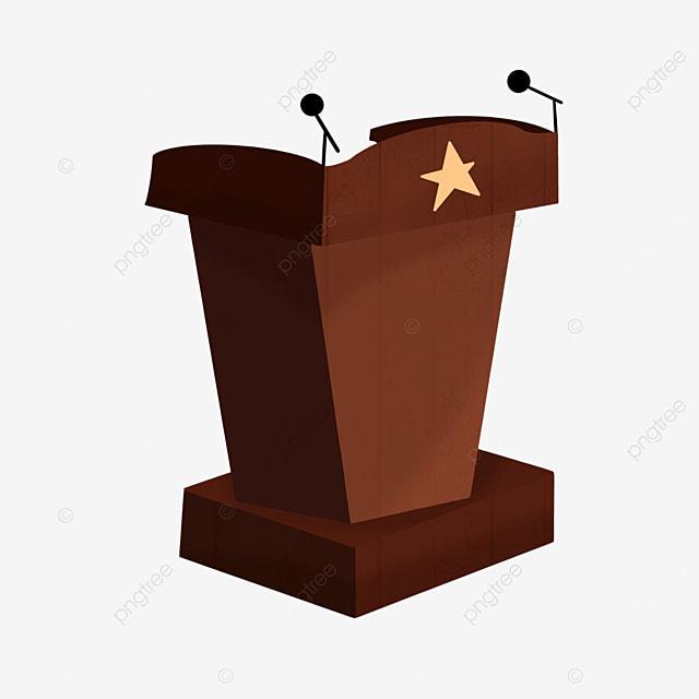 pentagram brown podium clip art