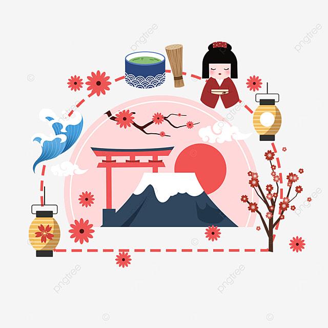 pink japan mount fuji shrine scenic sightseeing