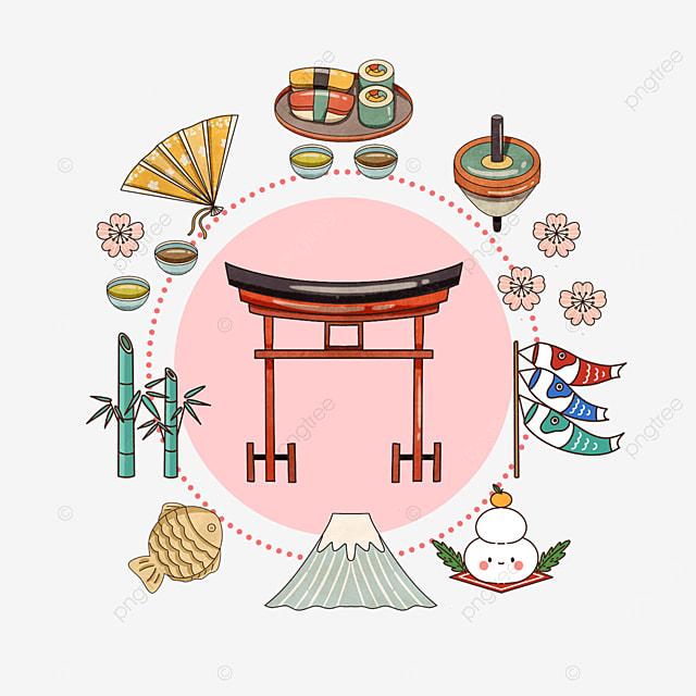 pink japanese shrine travel promotion border