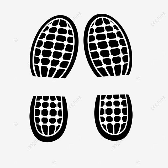 plaid shoe print clip art