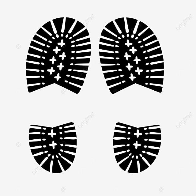 printed shoe print clip art