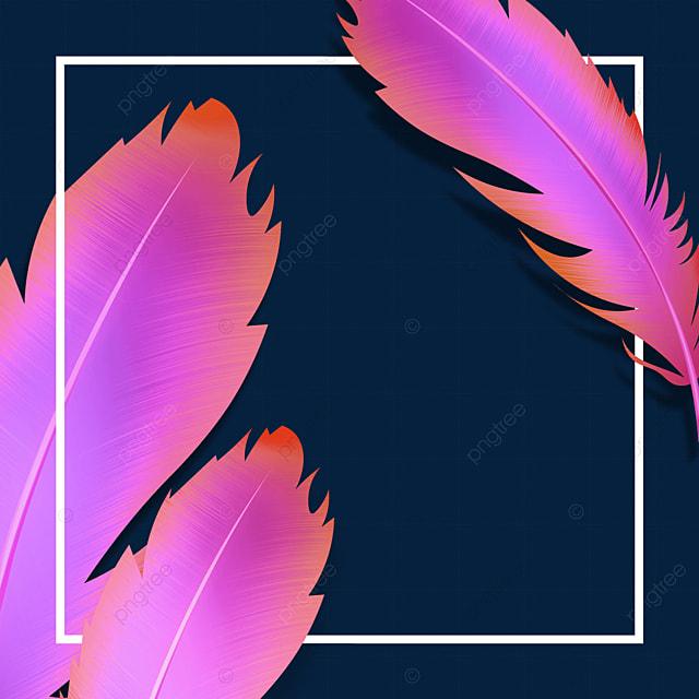 purple feather texture border