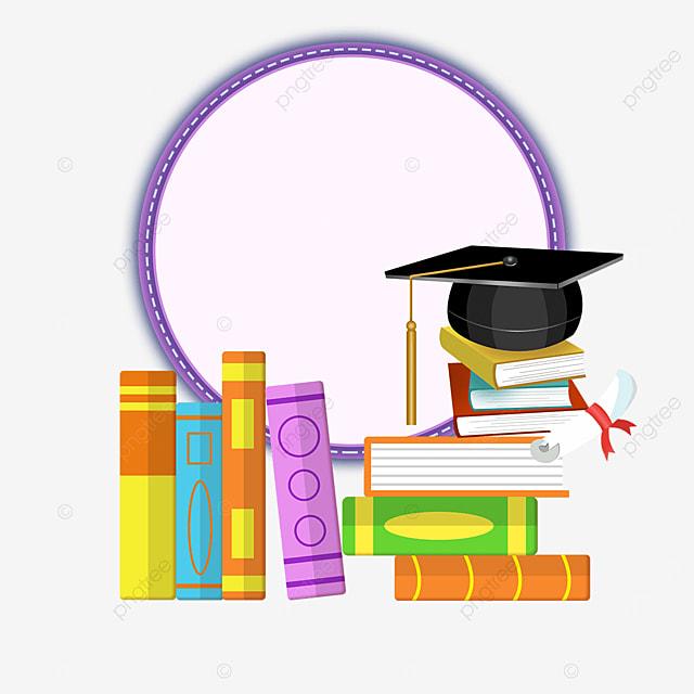 purple ring book bachelor hat border
