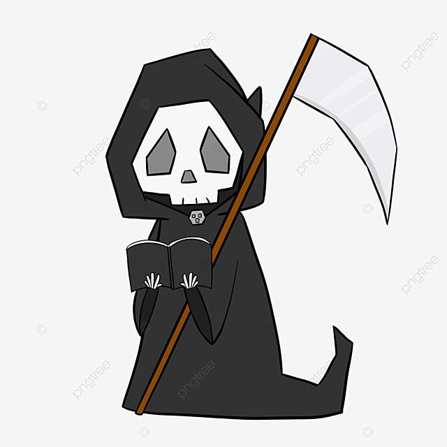 reading grim reaper clip art
