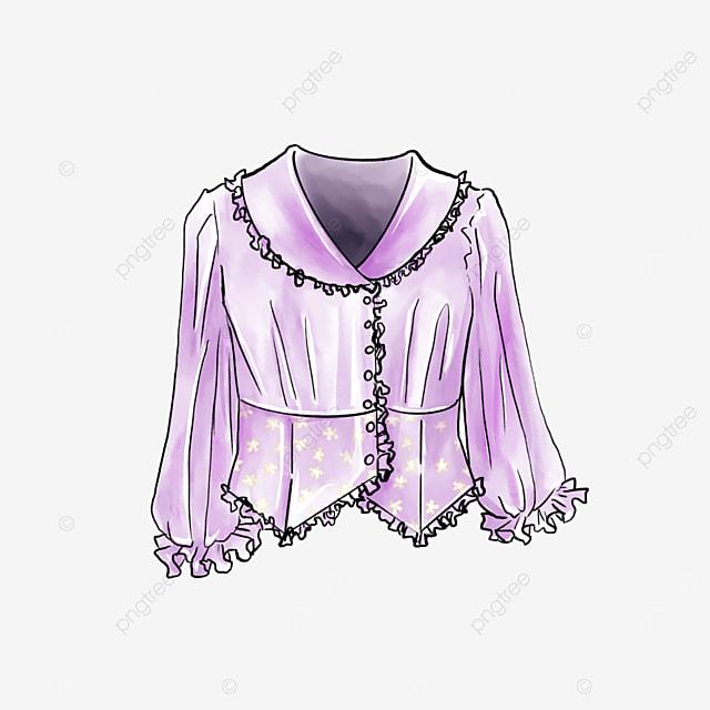 shiny floral blouse clipart