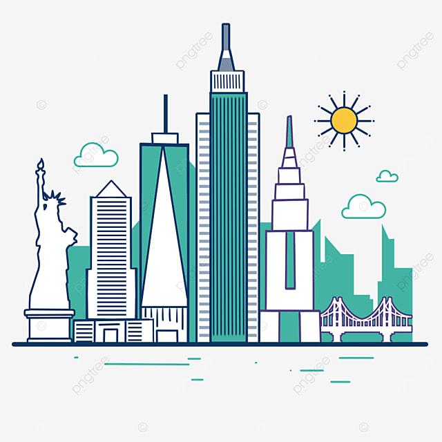 stroke green new york city silhouette