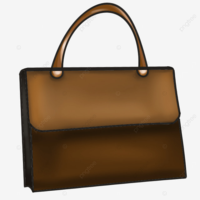 three dimensional style briefcase clipart