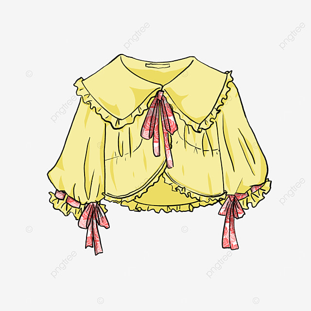 three quarter sleeve blouse clip art