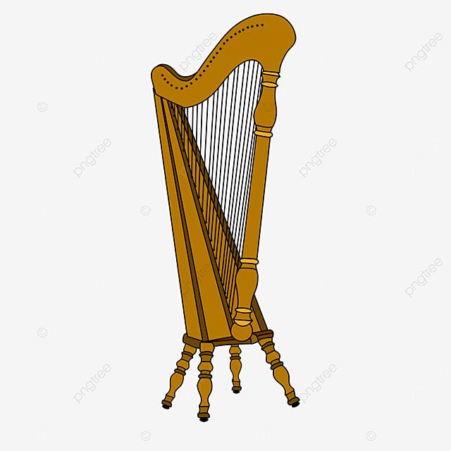traditional harp clip art