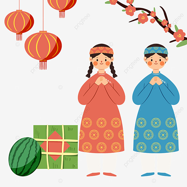 traditional vietnamese spring festival characters