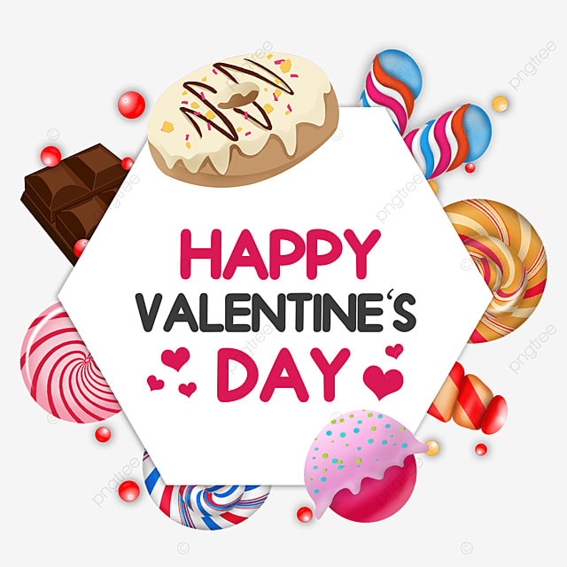 valentine candy border love