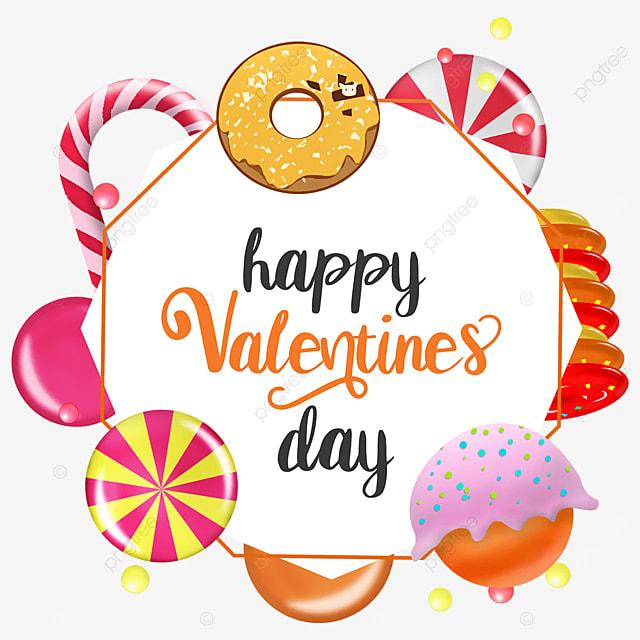 valentine candy border orange