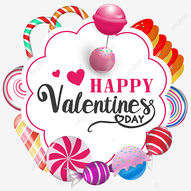 valentines day candy border romantic love