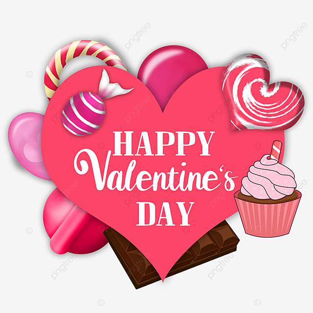 valentines day candy pink love border
