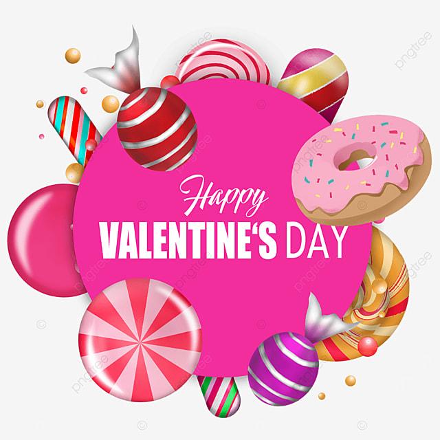 valentines day candy round border