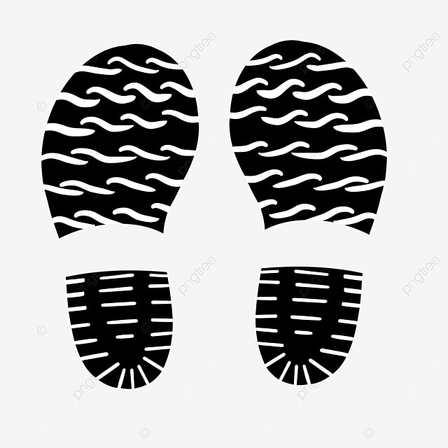 wave pattern shoe print clip art
