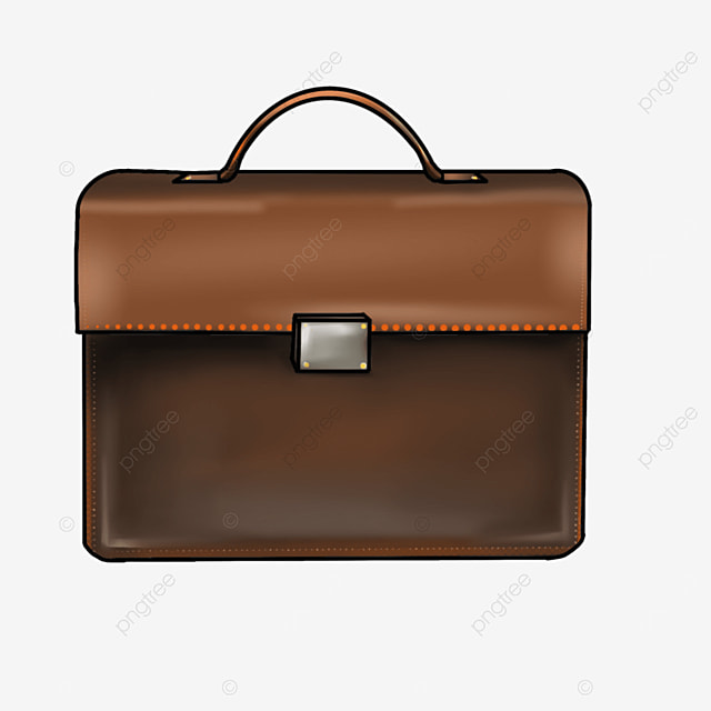 workplace brown briefcase clipart