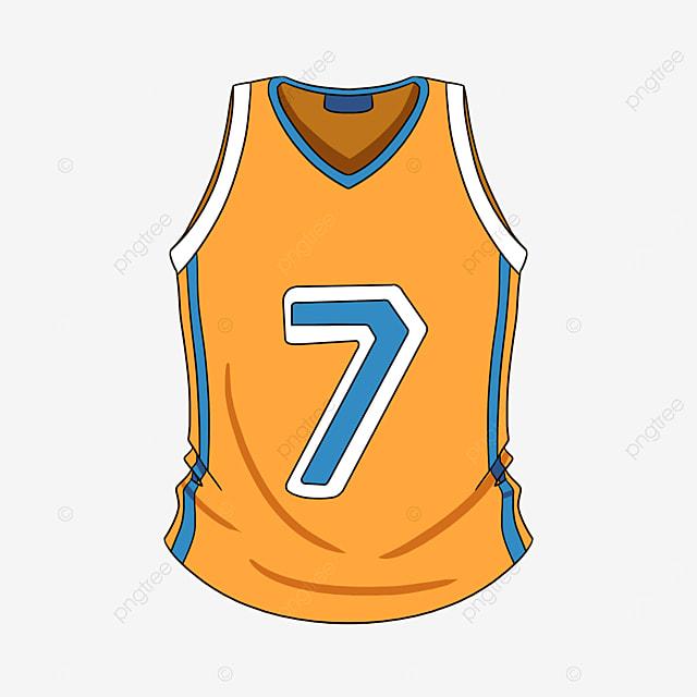 yellow basketball jersey clip art
