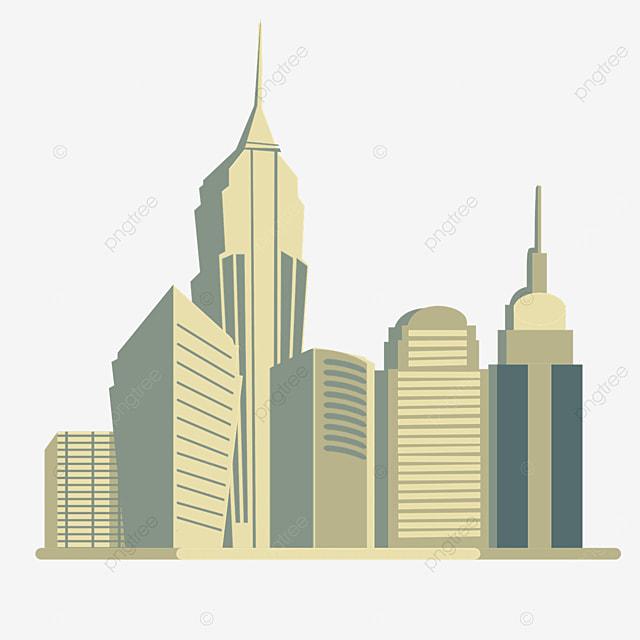 yellow building new york city silhouette