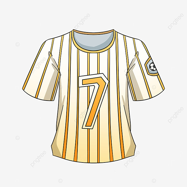 yellow gradient jersey clipart