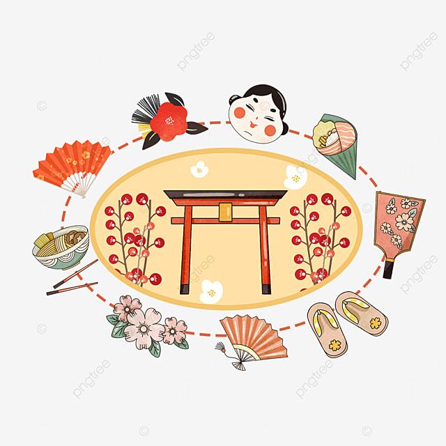yellow japanese shrine sakura traditional item box