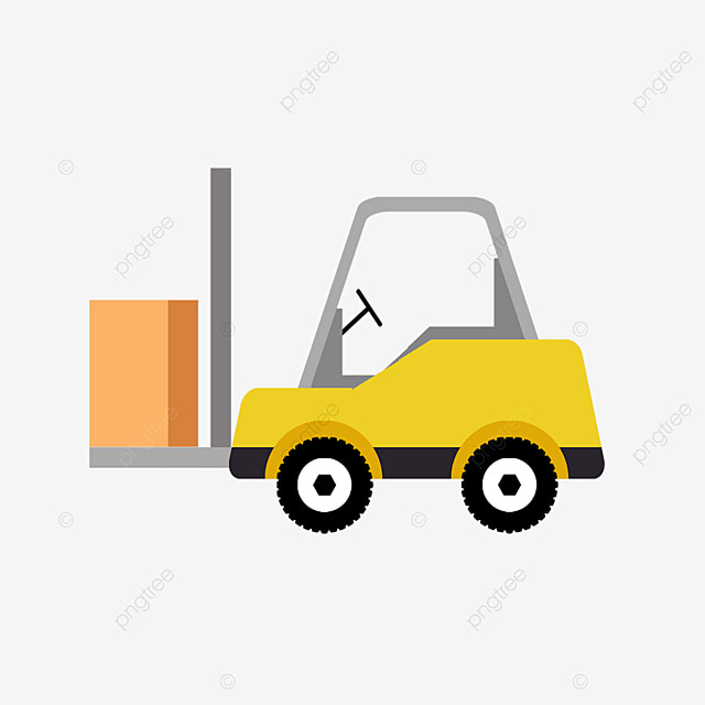 yellow loader forklift clipart