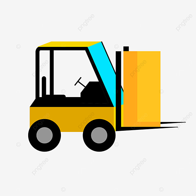 yellow transport forklift clip art