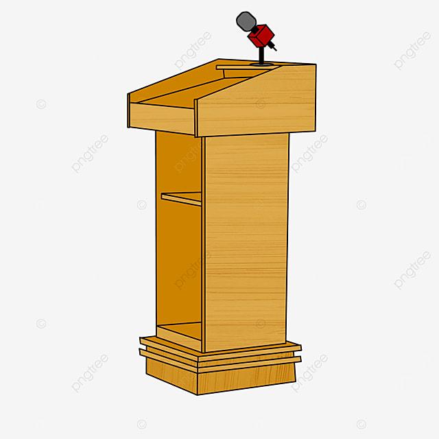 yellow wooden podium clipart