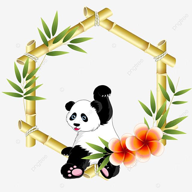beckoning panda bamboo floral border