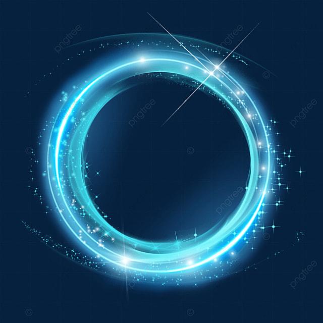 blue circle magic wand aperture light effect