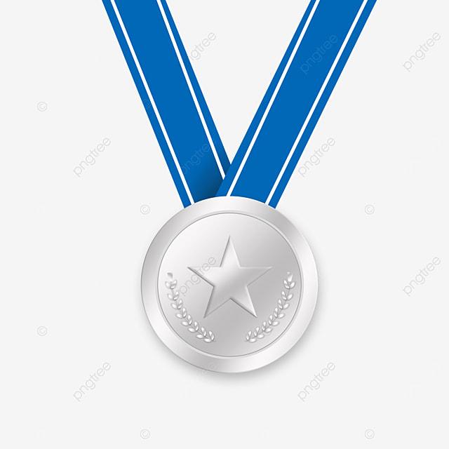 blue ribbon champion gold medal clip art