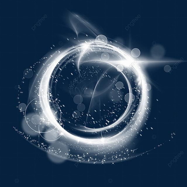 circular gradient white magic wand aperture light effect