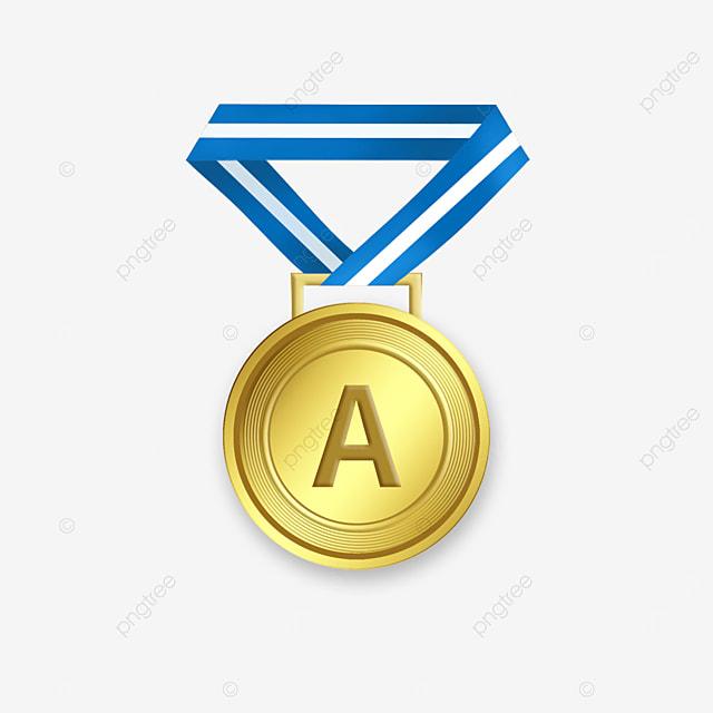 class a champion gold medal clip art