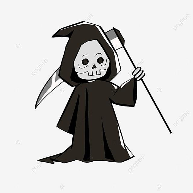 cute cartoon q version of death