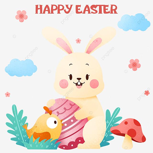 easter beige cartoon bunny