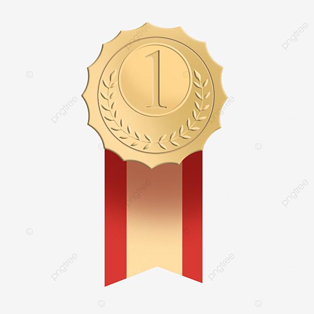 first place golden metal medal