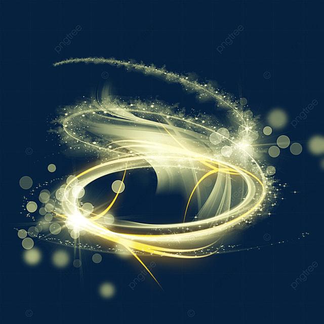golden three dimensional spiral magic wand aperture light effect